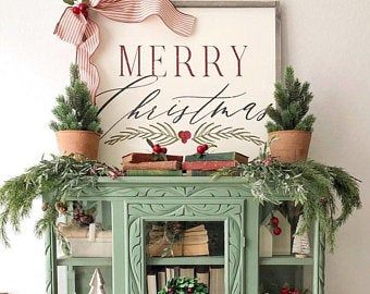 Merry Christmas 14×14, farmhouse decor, rustic sign, wood sign, farmhouse sign, Christmas Sign, rust