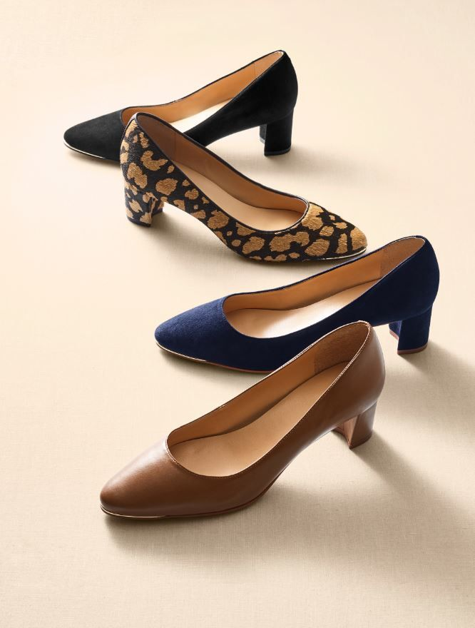 c6e013f621695 Classic pumps with a comfortable block heel. Easy to wear and even easier  to walk in