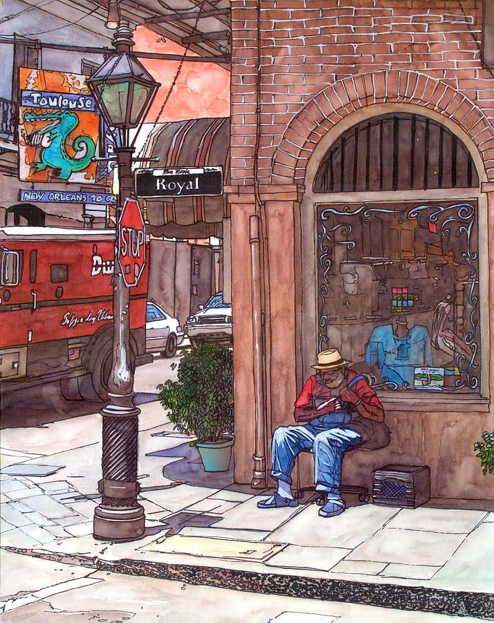 62 Best New Orleans Watercolor Images On Pinterest French Quarter Watercolor Paintings And