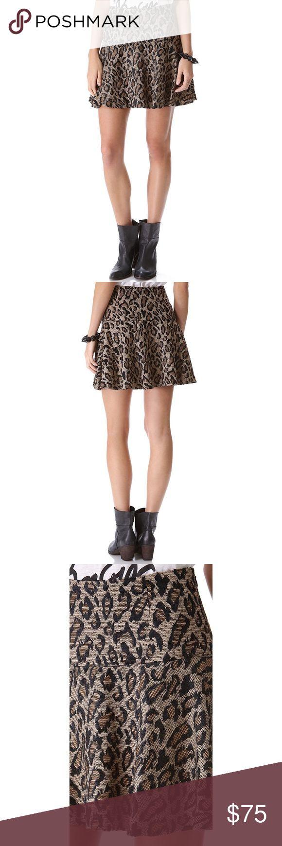 Free People Chenille Cheetah Skirt Free People Chenille Cheetah Skirt Free People Skirts