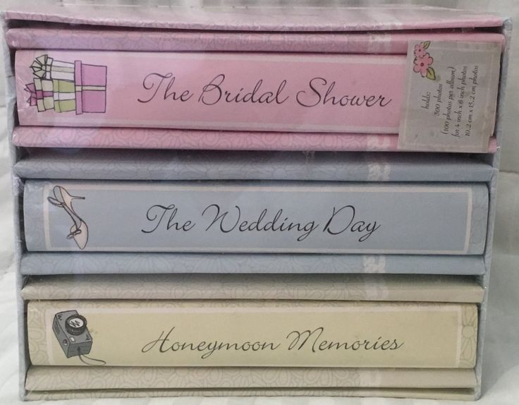 Amazon.com : Wedding Memories 3 piece Wedding Album Set : Professional Photo Presentation Albums : Camera & Photo
