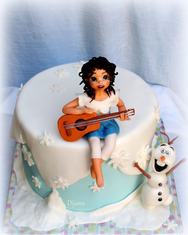 frozen thema_ my niece with guitar