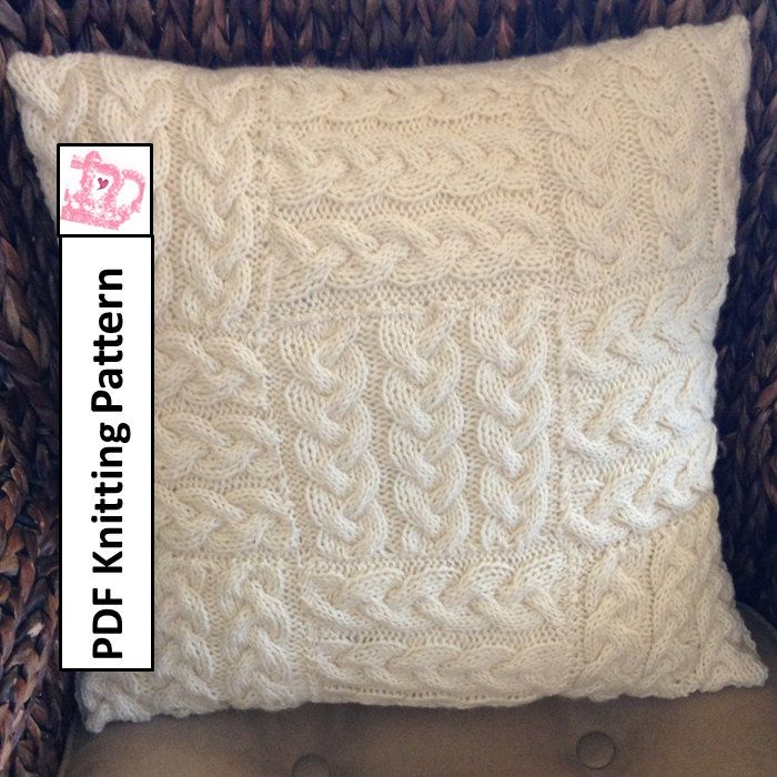 Oblong Cushion Knitting Pattern : The 66 best images about Pillow Cover Knitting Patterns on Pinterest Knit p...