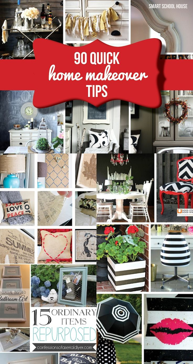 90 Quick Home Makeover Tips