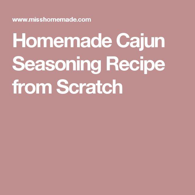 Homemade Cajun Seasoning Recipe from Scratch