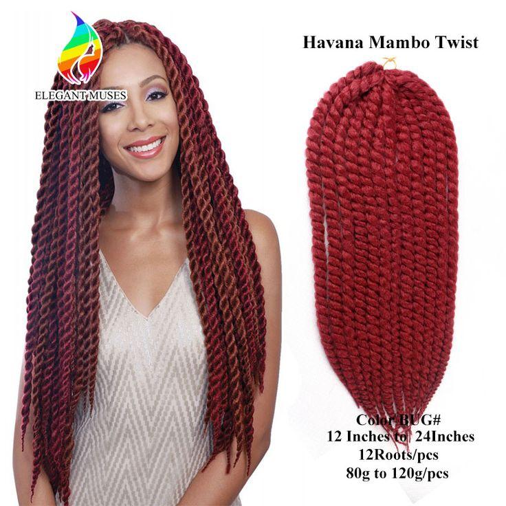 Mambo Havana Torção do Crochet Tranças Do Cabelo 12 ''80 g/pacote Torções Senegalês Trança Extensões Do Cabelo Cabelo Sintético Tranças De Crochê