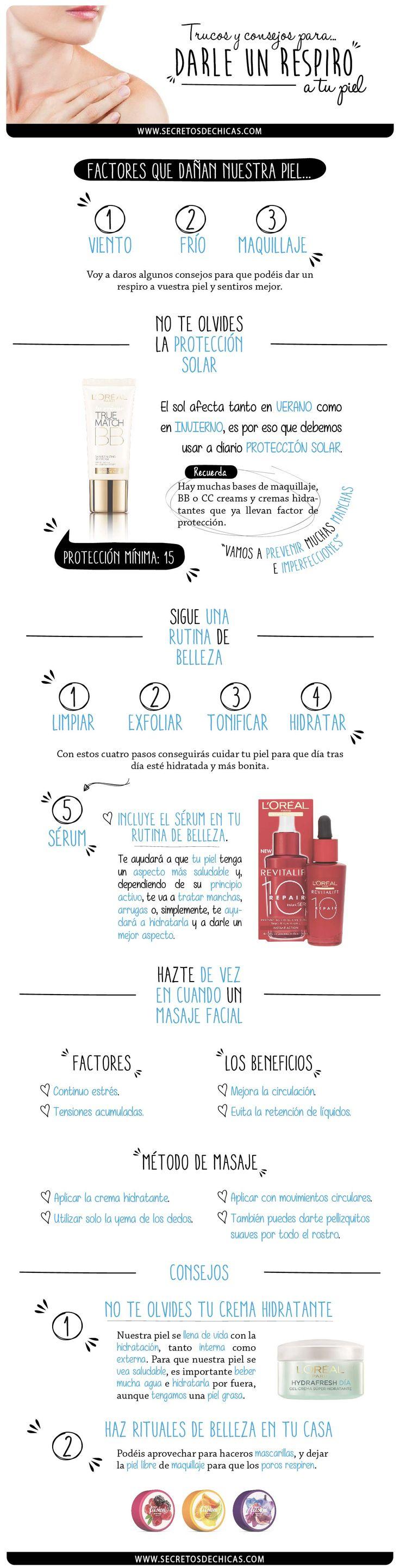 Respiro piel http://www.secretosdechicas.es/2014/12/24/90616/trucos-y-consejos-para-darle-un-respiro-a-vuestra-piel-