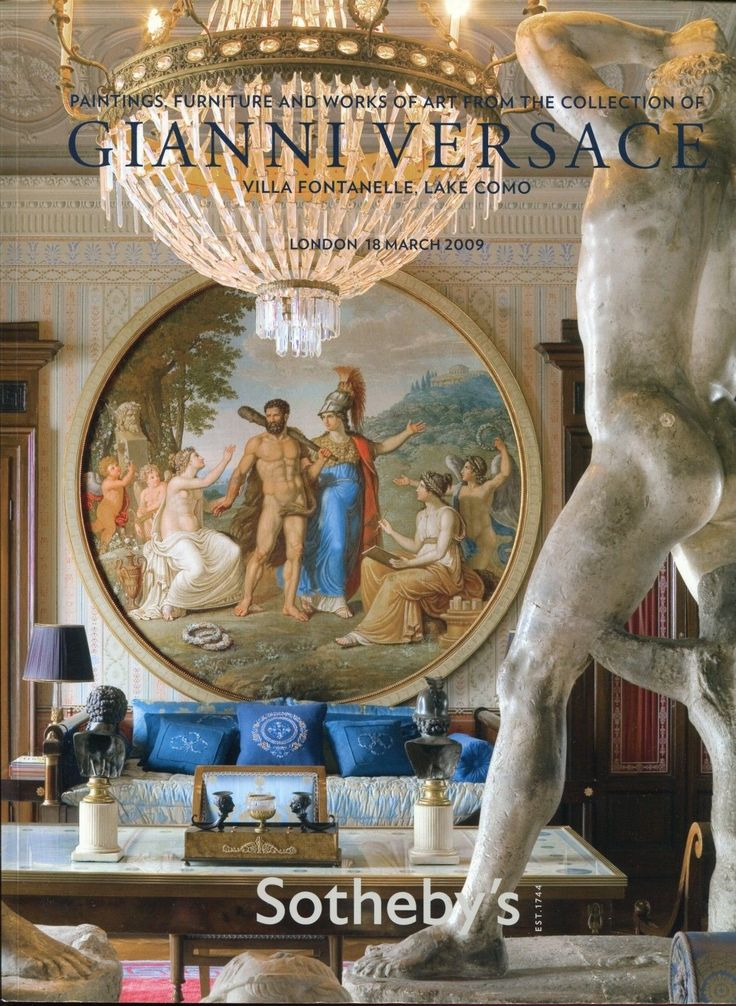 Sotheby's The Collection of Gianni  Auction held in: London  Paintings Furniture Works of Art from the Collection of Gianni Versace, Villa Fontanelle, Lake Como  18 Marzo 2009 2009 347 Pag