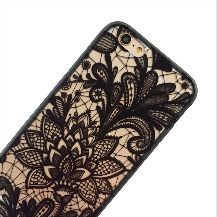 Black Lace Paisley Phone Case