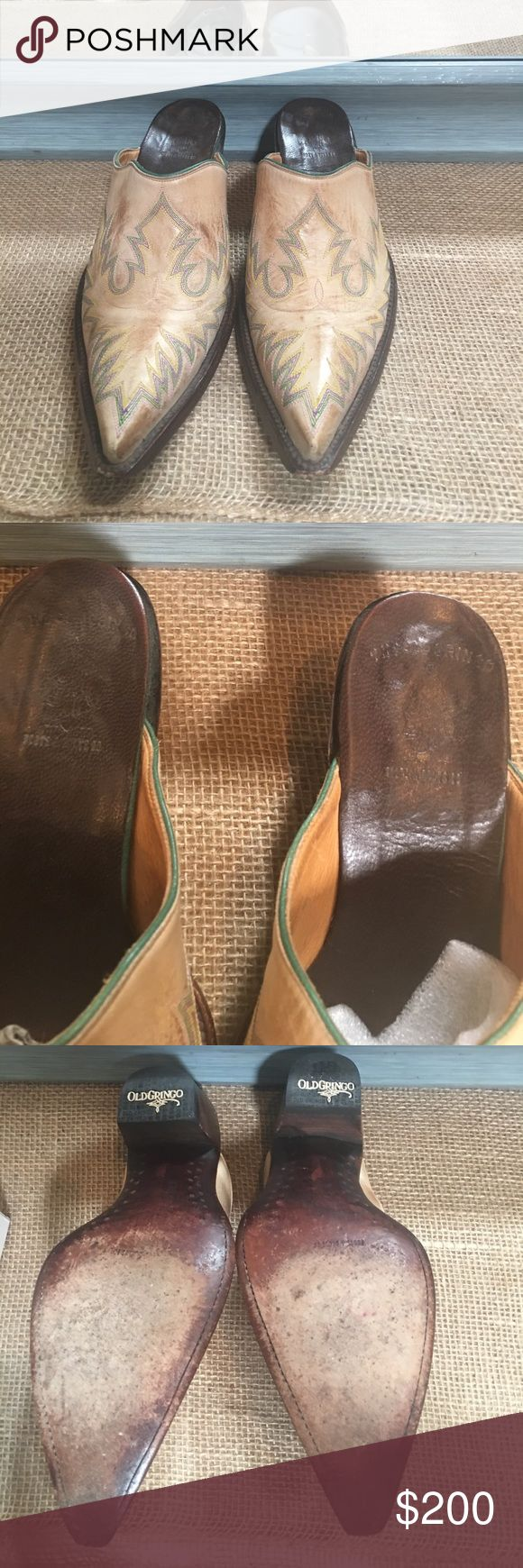 Old Gringo mules 8 Old Gringo Mules size 8 gently worn Old Gringo Shoes Ankle Boots & Booties