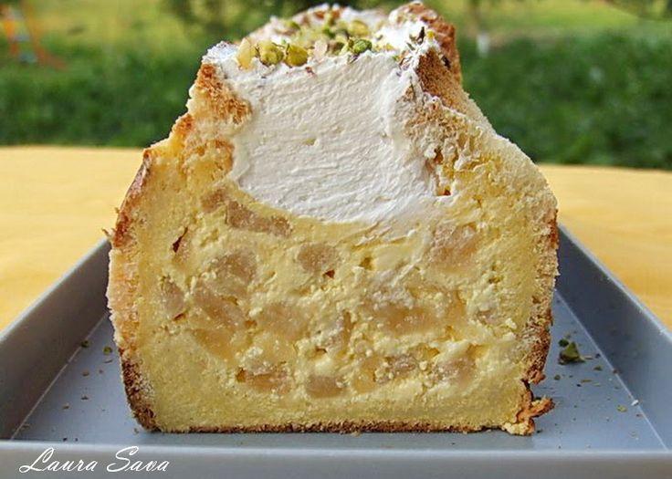 Prajitura din paine, cu mere si sirop de scortisoara