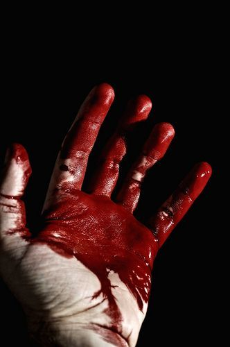 Blood. It was everywhere. It trickled down this man's fist who is standing before her now. He did not have a face but his gaze threatened her.