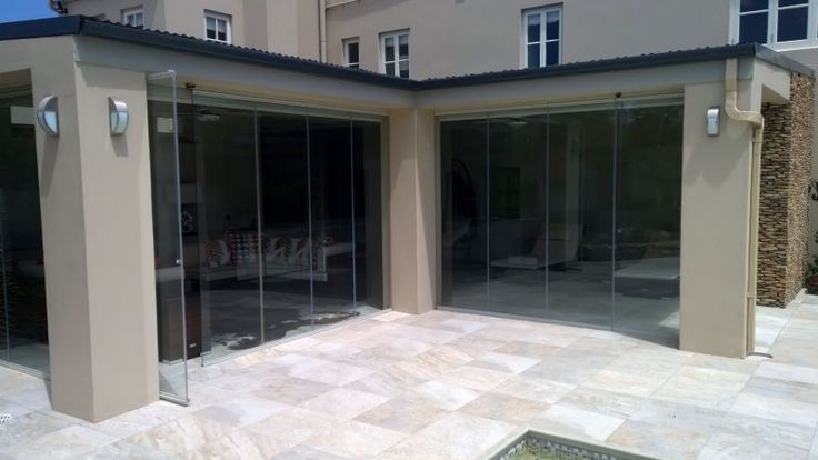 Frameless patio enclosure greyton - completed