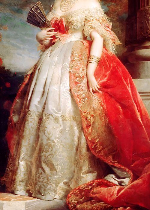 cybertronian:  INCREDIBLE DRESSES IN ART (22/∞)Princess Mathilde Bonaparte by Édouard Louis Dubufe, 1861