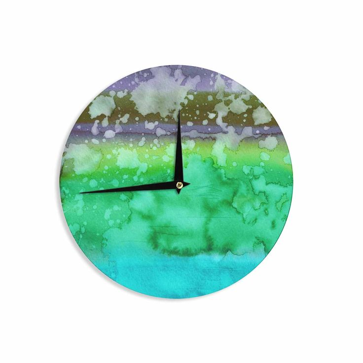 "Ebi Emporium ""California Surf 3"" Green Teal Wall Clock"