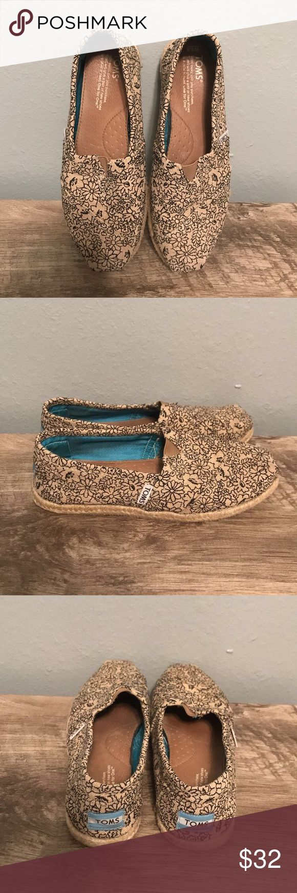 Women's Floral Toms gently used floral toms. Bundle.🌻 Toms Shoes Flats & Loafers