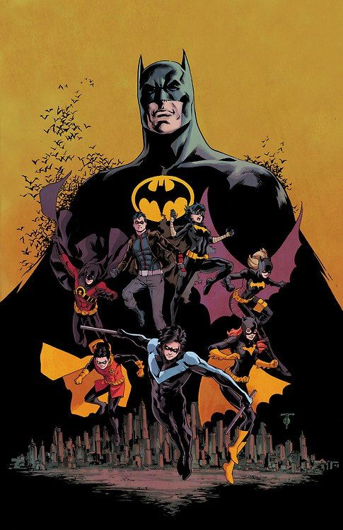 Bat-Family   Oh Yeahhhhhh  !!!!!!  He had all the Ka - Powies , Holy Batman , Yikessss  that one 1/2 hour show could hold..  To the Batcave Robin