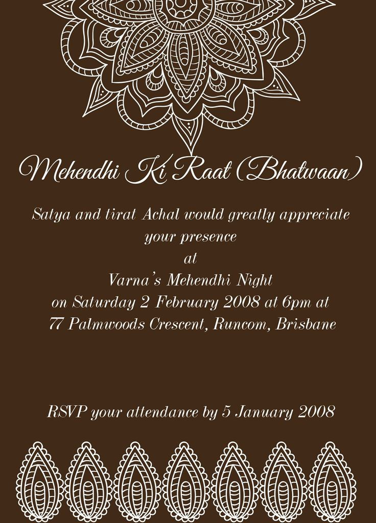Mehndi Invitation Wording with best invitations template