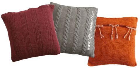 Tutorial: almohadones o cojines tejidos en dos agujas o palitos!