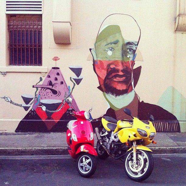 Bafcat & Ears. Newtown. Sydney graffiti street art