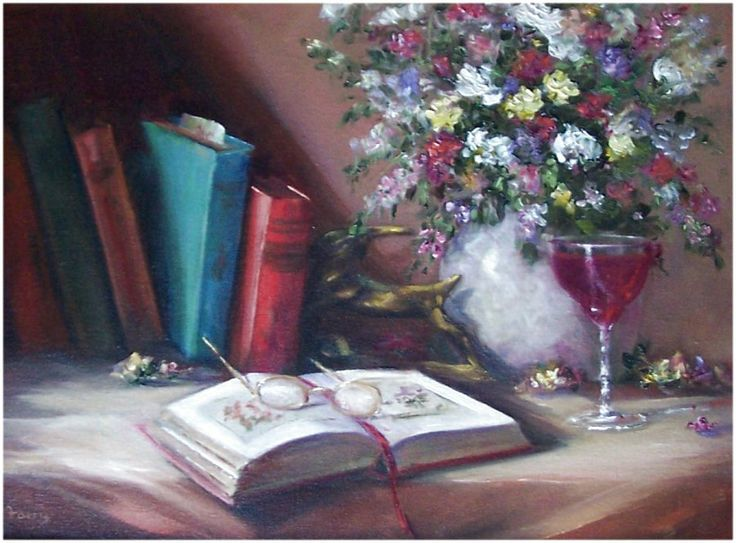 A Gardener's Journal, 12x16, oil. Available in my Ebay Store.