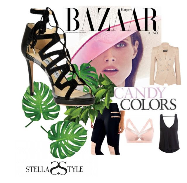 Perfect combinations can be made of activewear... such as casual or businesswear. Today we use the candy colors Blush & Black from Vimmia & L'urv. Check Stellasstyle.com💕💕💕 to get these items. by stellasstyle247activewear on Polyvore featuring polyvore, fashion, style, Balmain, Jimmy Choo, Bela and clothing