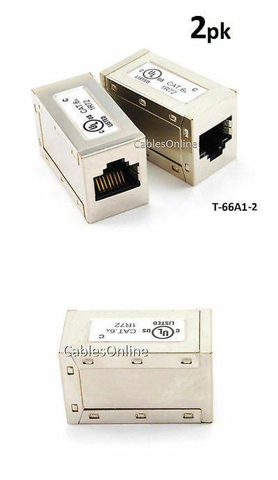 T-6602-5 5-Pack CAT6 RJ45 Gigabit Network Female to Female Mini Inline Couplers