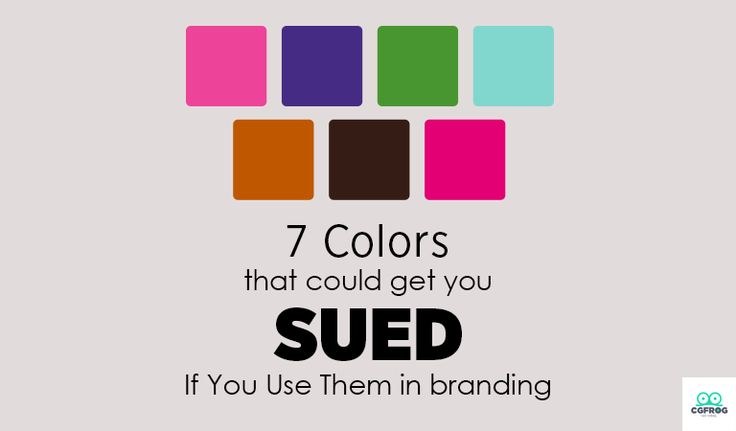 7 Colors That Could Get You Sued: Yes, colors can be claimed as someone's property. Which means that you could get in trouble for using them.
