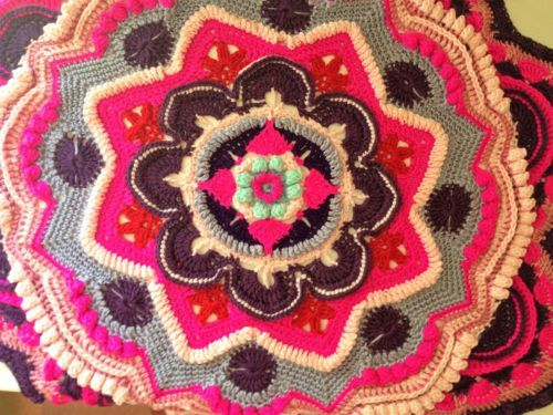 NEW-Hand-Crochet-Soft-Star-Rainbow-Baby-Blanket-Mandala-Spring-Flowers-100x100cm