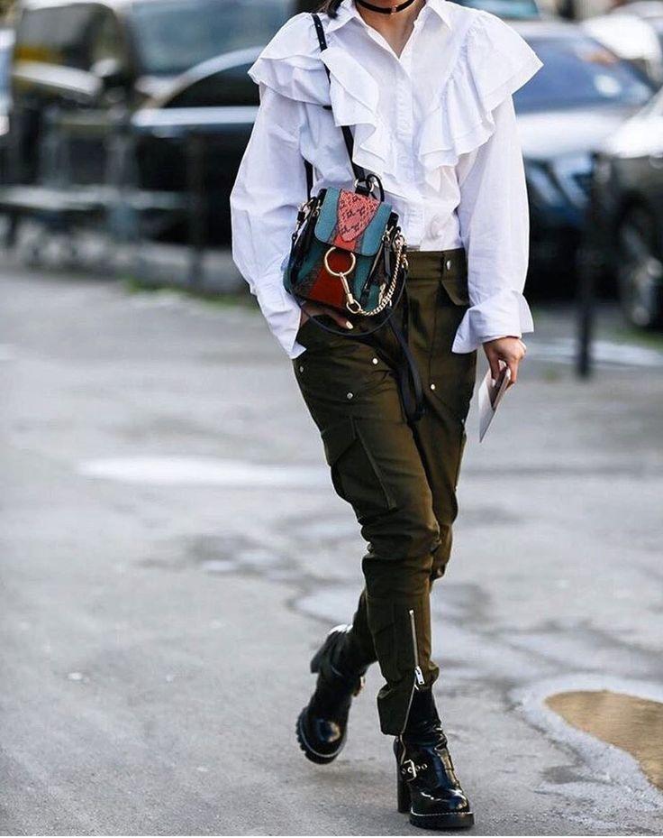 """Картинки по запросу """"блузка с рюшами с чем носить"""""""