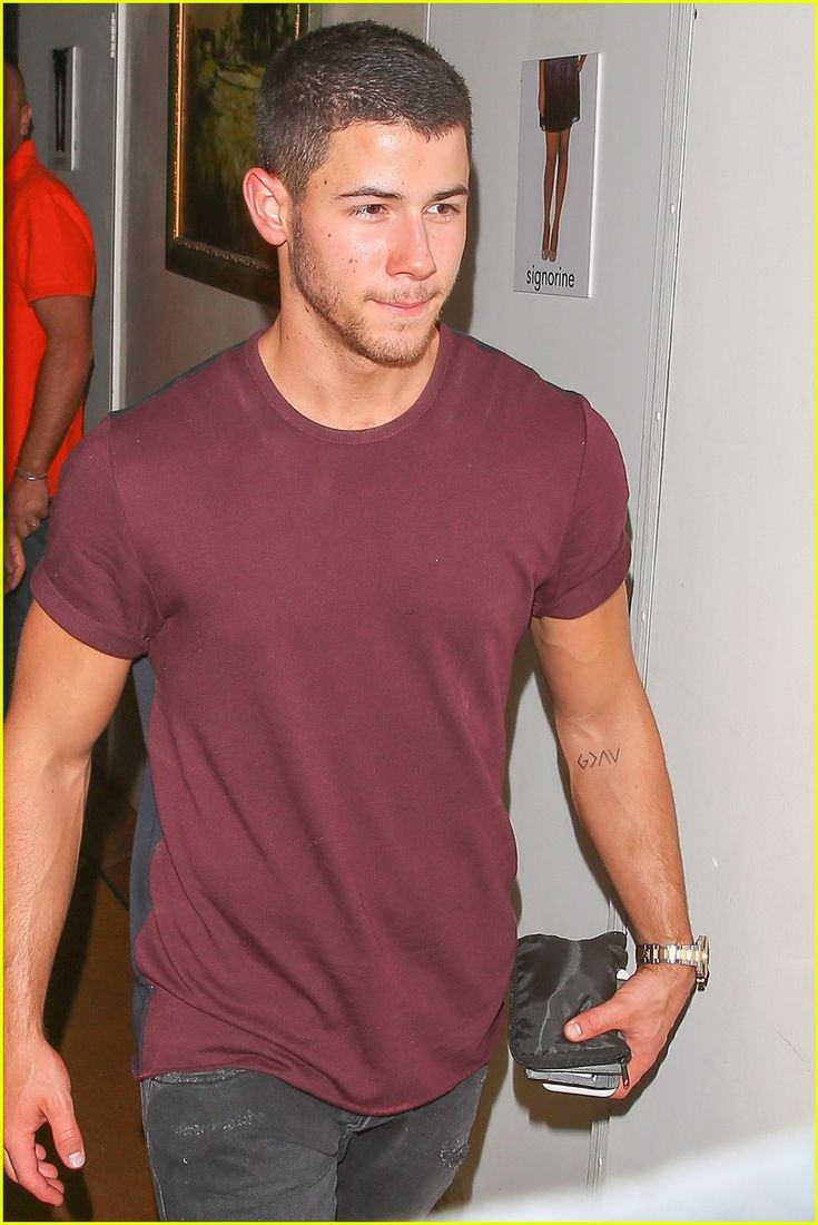 """August 16, 2016 | Nick Jonas leaving Il Segreto restaurant with his rumored…"