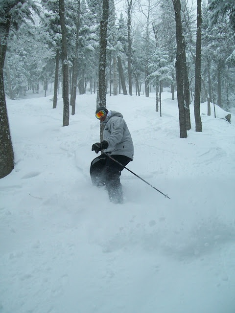 Express ski: Massif de Charlevoix - 24 février 2013: Hors-piste sur le Mont à Liguori! #ligori #massifdecharlevoix #horspiste