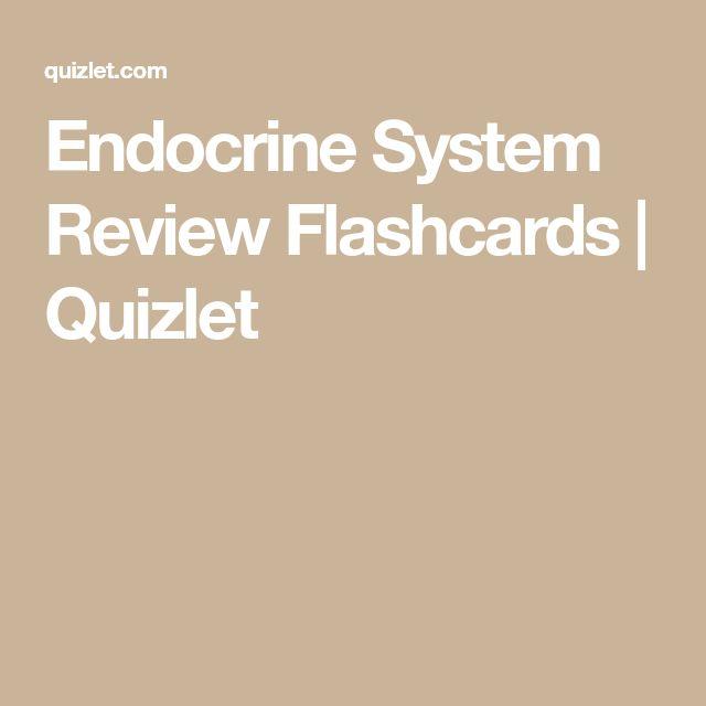 Best Of Endocrine System Quizlet Test