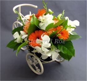 Dendrobium and germini centerpiece