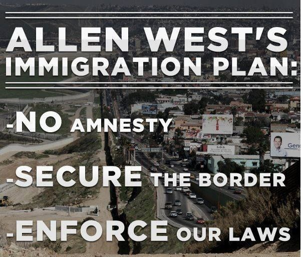 Love Allen West's Immigration Plan: