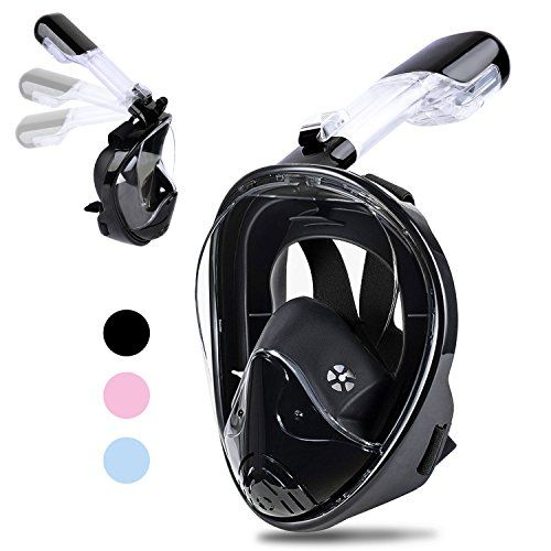 [2018 Newest Version] Snorkel Mask Foldable - Greatever 180° Panoramic View Free Breathing Full Face Snorkeling Mask with Detachable GoPro Mount, Dry Top Set Anti-fog Anti-leak for Adults & Kids - Preparation:Make sure there is no sand on the mask or tube,if there has sand,using water to clear the breathing tube or mask,once the mask is clean then it ready for use.Checking the seal:Pull the straps of the mask over your head and check the fit of the mask on your face,breath normally to…
