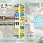 Denah lantai tower Kirana Apartemen Akasa BSD City. #akasabsdapartment