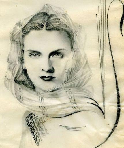 Maria Tanase Dessin  #iutta #iuttabags #dorderomanesc  #romanian #art #tradition #motifs #details #elements #folklore #folkart #folk #romania #artist #inspiration #music #songs