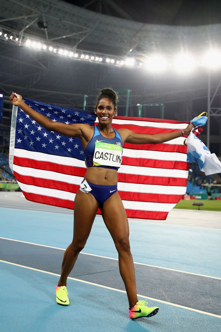 Olympic hurdler Kristi Castlin used the occasion of her bronze-medal performance…