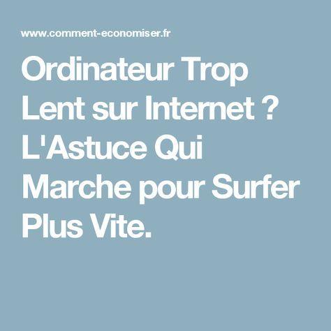 Ordinateur Trop Lent sur Internet ? L'Astuce Qui Marche pour Surfer Plus Vite.