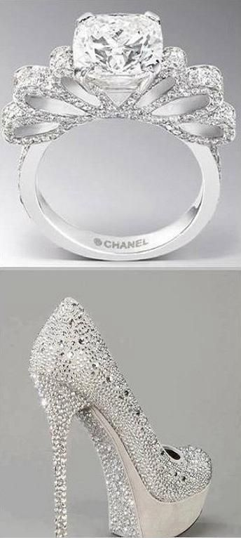 AMAZING CHANEL DIAMOND RING CRYSTAL SHOES Sexy, Sophisticated and Edgy.