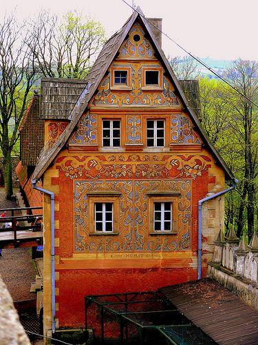 Part of Grodno castle - Zagorze Slaskie, Sudetes, POLAND.   (by stempel*)