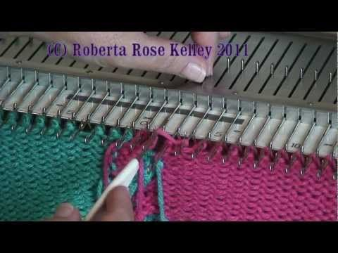 Machine Knitted Twisted Fringe by Diana Sullivan - YouTube