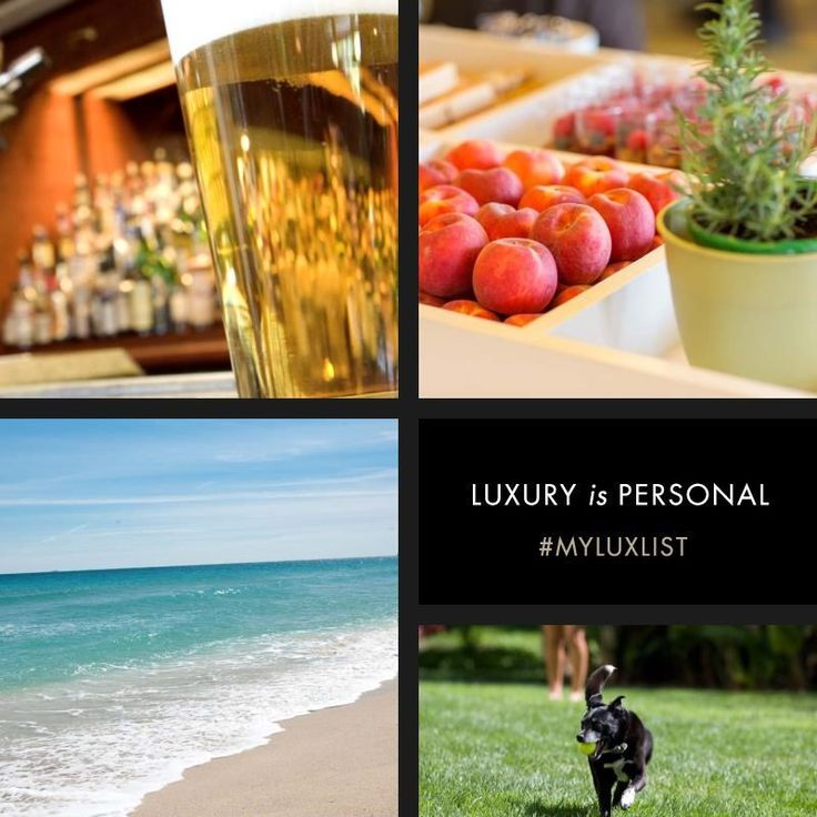 Ice cold beer on a Friday at 5 PM, locally harvested peaches, a day at 25th street in Fort Lauderdale, and a weekend with family and his dog make up @cliffordoliver's luxury list. What's on yours? #MYLUXLIST | Park Hyatt