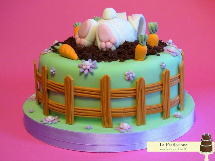 Torta con coniglio scavatore www.la-pasticciona.it