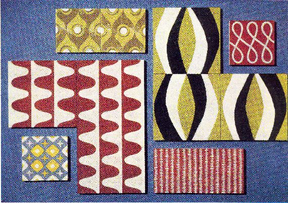 Design Magazine august 1956  1 This group of pattern making tiles shows the wide variety of scale and character that can be obtained, but the number of pattern ways with...
