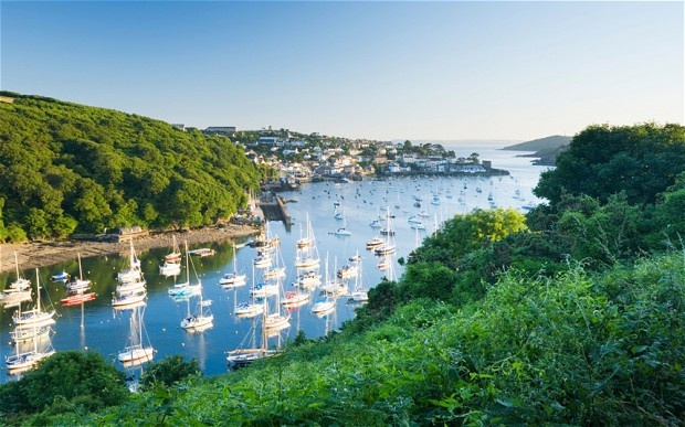 Where our boats moored, Fowey estuary, Cornwall