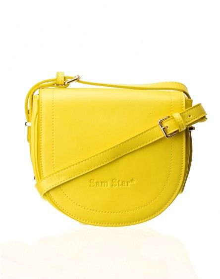 Yellow Leather Sling Bag
