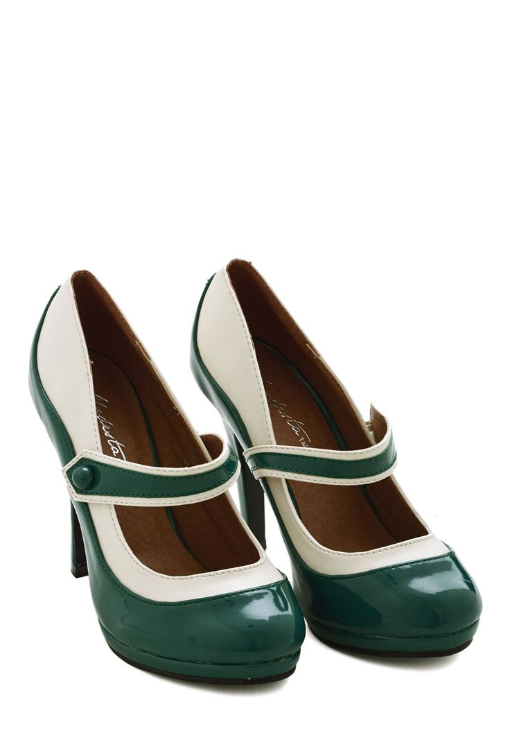'S Marvelous Heel in Evergreen. This new colorway of one of your favorite ModCloth items was picked by you in our Be the Buyer Program and will be sold exclusively online at ModCloth! #green #modcloth