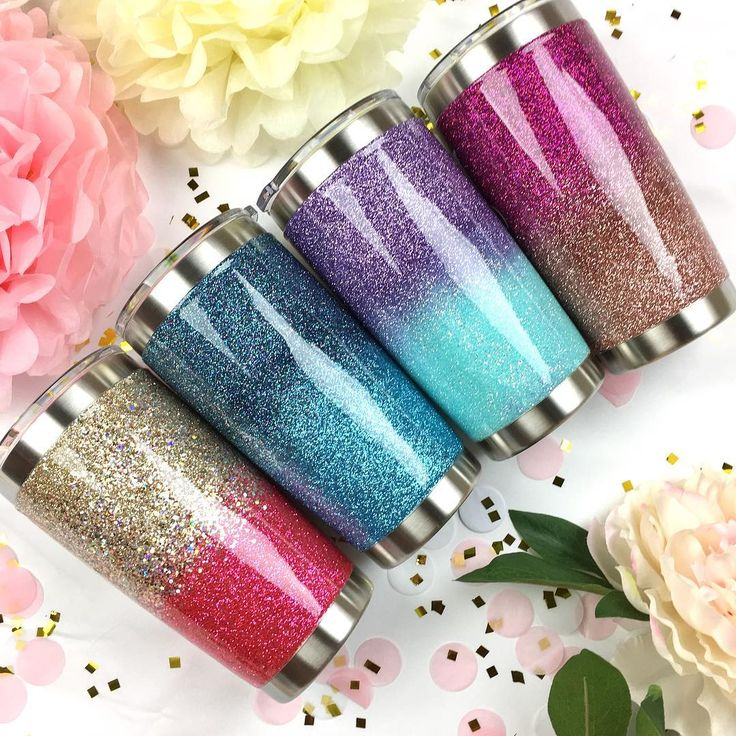 Ombre Glitter YETI - Dazzling glitter colors! Working hard to get out your orders!! For those who ordered during the grand opening sale, I will be getting your sparkle creation out to you SOON!!! ✨ Thank you all for your patience! The sale was huge, and I'm so grateful!!